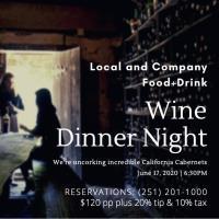 Wine Dinner Pairing Featuring California Cabs