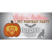 Jack O'Lantern Pet Portrait Party