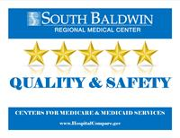 CMS UPDATES HOSPITAL STAR RATINGS South Baldwin Regional Medical Center Receives 5-Star Rating