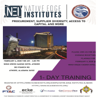 Great economic opportunities in Coastal Alabama •   You're invited to Native Edge Institute coming to Alabama for the FIRST TIME!