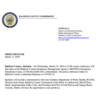 BALDWIN COUNTY COMMISSION - Press Conference March 18, 2020