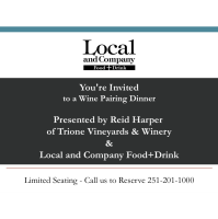 Local and Company announce Trione Wine Dinner Pairing Event