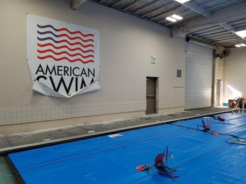 American Swim Academy - Dublin Tile Install & Ceiling Paint