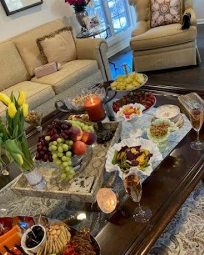 Private home luncheon in Oak Brook