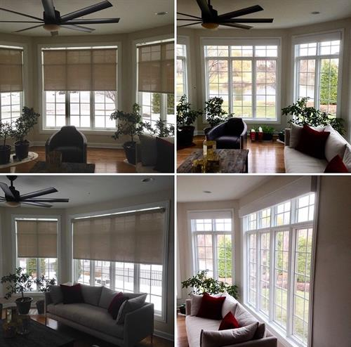 We offer the best motorized shades ( silent and reliable)