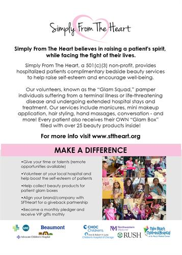 """SFTHeart """"Make A Difference"""" Flyer"""