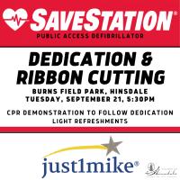 Hinsdale SaveStation AED Dedication & Ribbon Cutting