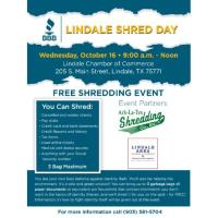 Lindale Chamber Shred Day