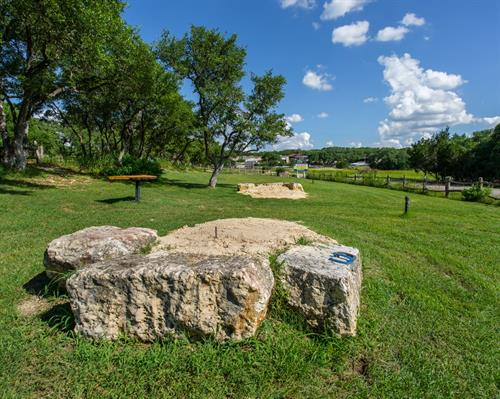 Horseshoe Pits to play and relax at Still Water Ranch Condominiums