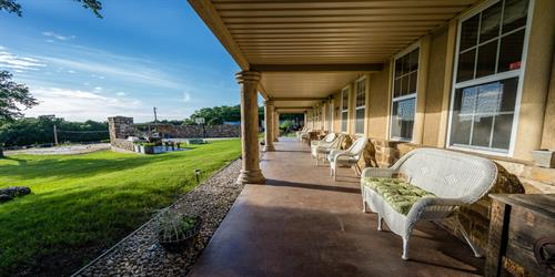 Front Porch with awesome Lake Views from Still Water Ranch Condominiums