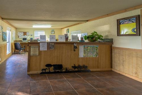Office Lobby where Guests check in - back of condominiums