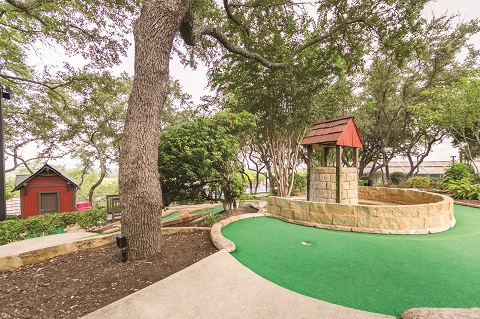 Have some family fun on the 18-hole mini-golf course.