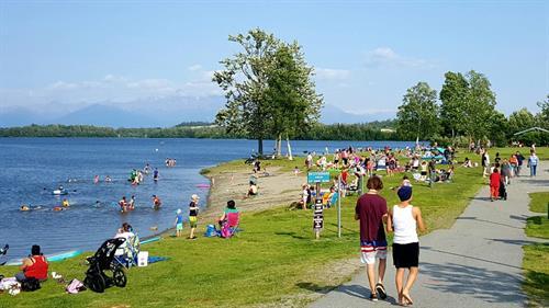 A day at Wasilla Lake Newcomb Park
