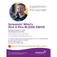 Vitalant & Screamin' Mimi's to Hold 12th Annual Summer Blood Drive