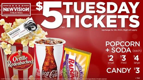 $5 Tuesdays at New Vision