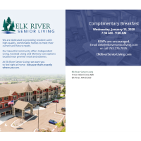 Elk River Senior Living Complimentary Pancake Breakfast - CANCELLED