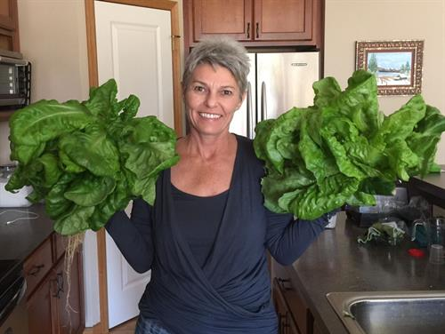 The plants I harvest from our Tower Garden are amazing!