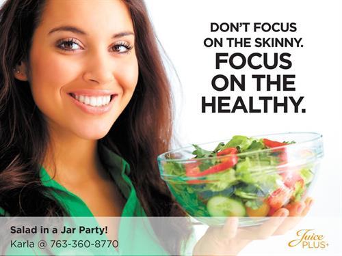 We hold community Salad/Snack/Smoothie parties most weeks!