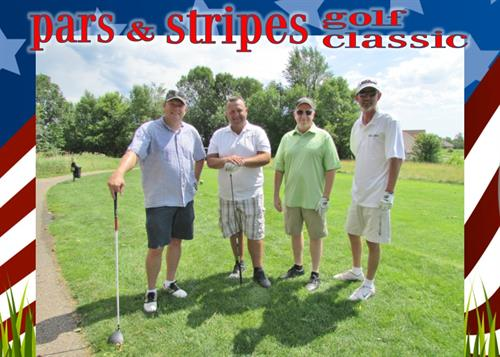Foursome at the Pars N Stripes Tourney