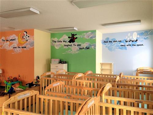 Beautiful Murals in the Infant Room