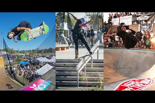 Opening day and our banner was already being featured next to Vans in Transworld Magazine, Juice Magazine, Grind TV, and many others for sponsoring the world's largest all women's skate event, Exposure Skate, a charity to helps victims of domestic violence.
