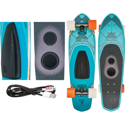 Bluetooth speaker waterproof cruisers and longboards and various other audio/video/phone devices including speakers, headphones, and DVDs