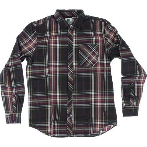 Men's flannels, hoodies, sweatshirts, zip ups, and t-shirts from brands such as Element, Diamond, DGK, Krooked, Chocolate, PlanB, Primitive, Creature, Independent, Santa Cruz, and Spitfire.