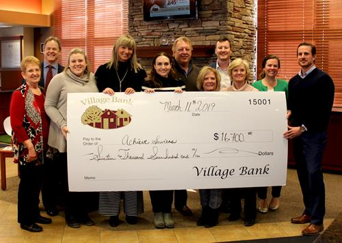 "Village Bank has built our business with a strong focus on investing in the community we serve and taking care of our ""villagers""."