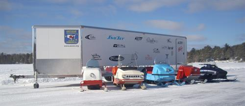 come see the sights, sounds and color of the old snowmobile hobby