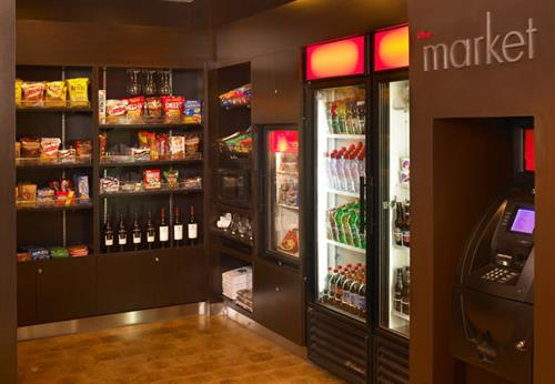 Visit our Market 24/7 for your favorite snacks and drinks.