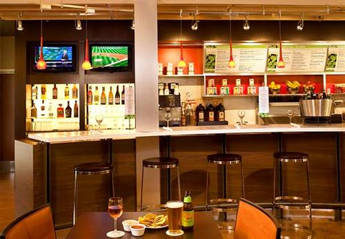 Enjoy healthy food and beverage items, along with beer and wine, from The Bistro - open for breakfast and dinner.