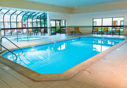 Take a dip in our heated indoor pool and whirlpool