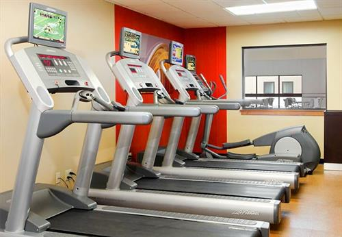 Get a workout in with our 24/7 fitness center.