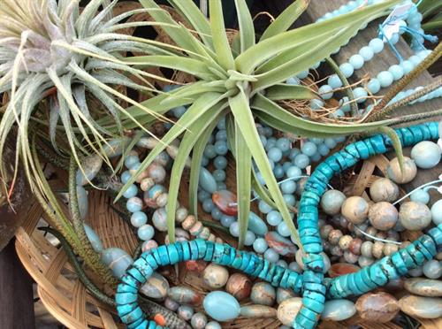 Tilandsia and stone beads