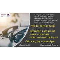 Community Response Helpline hours extended