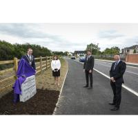 Upgrade of Rathbeale Road, Swords, officially opened by Mayor of Fingal