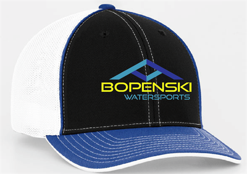 Digital mockup of an embroidered cap. See a photo of the finished product on our facebook page.