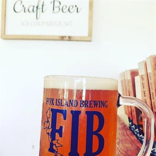 Mug of FIB Red Rye-der Red Ale