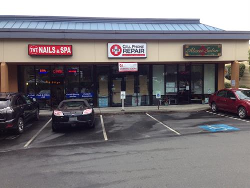 CPR Cell Phone Repair Gig Harbor Front of Store on Kimball Drive