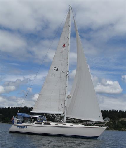 Hobbes under sail