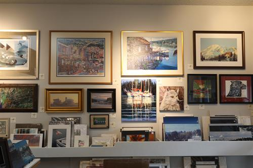 Interior wall with Consignment art