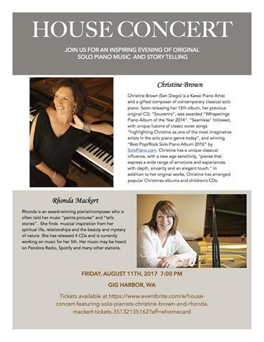 Rhonda Mackert and Christina Brown House Concert