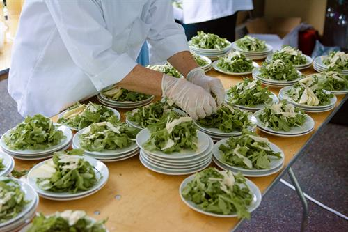 Plating Salad Course