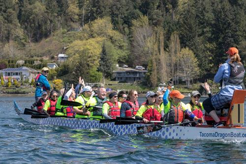 Action-based leadership in a dragon boat.