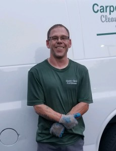 Chris MIgaud, cleaning technician