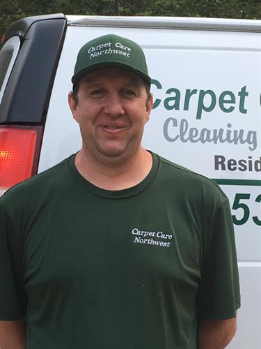 Brett Willey, cleaning technician