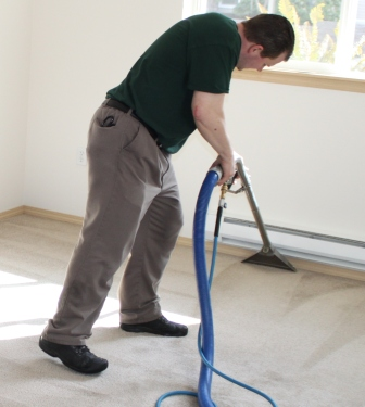 Truck mounted steam cleaning - the approved method of cleaning of the Carpet and Rug Institute