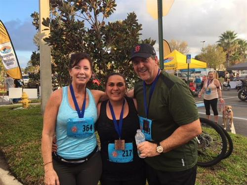 We love being an active part of the community. Here is a picture of Pat at the Fleet Feet run.