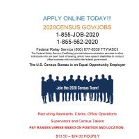 2020 Census is Hiring!