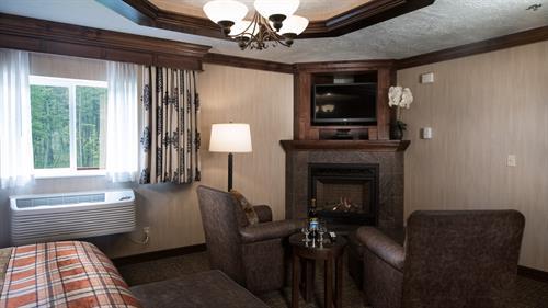 Luxury Suite Fireplace